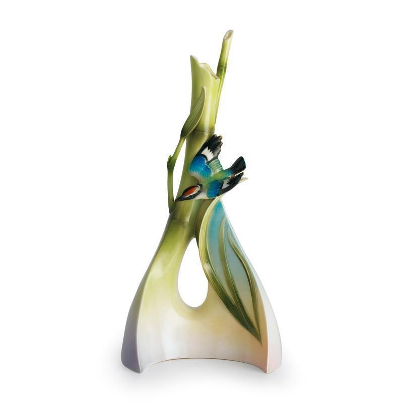 Franz Collection Bamboo Song Bird Triangle Vase FZ00571