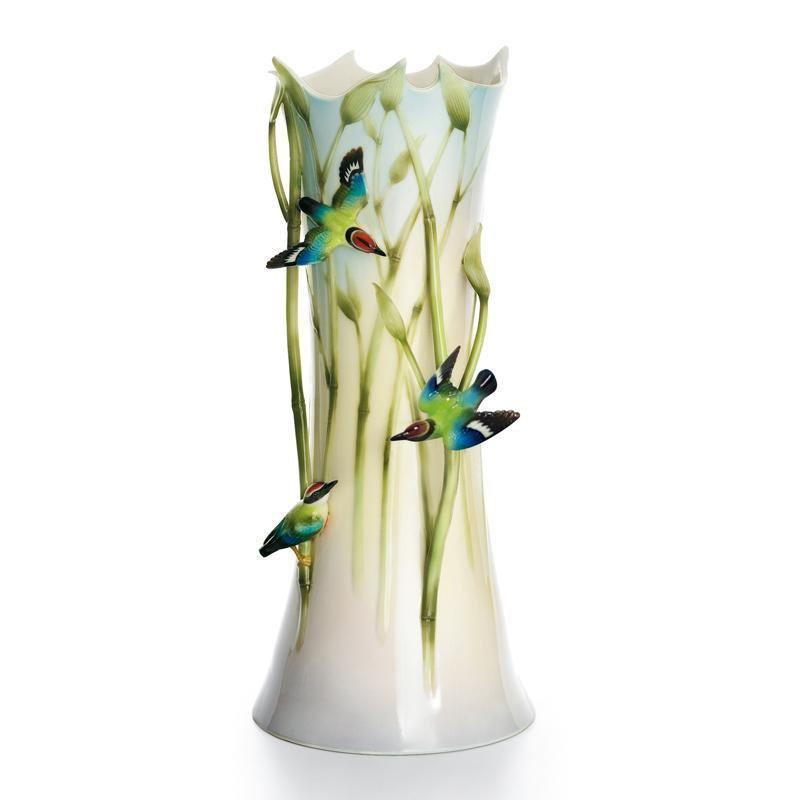 Franz Collection Bamboo Song Bird Vase FZ01319