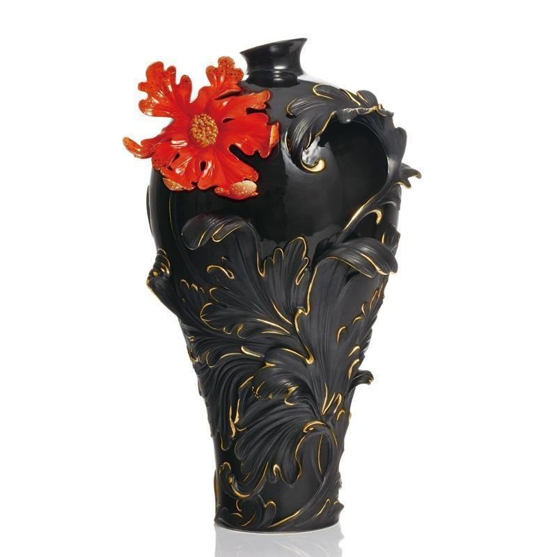 Franz Collection Baroque Red Lily Flower Vase Large FZ02148