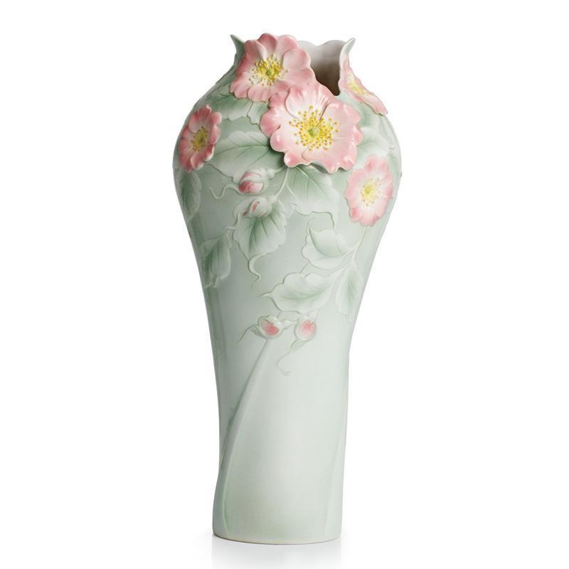Franz Collection Beauty Dog Rose Vase FZ02299