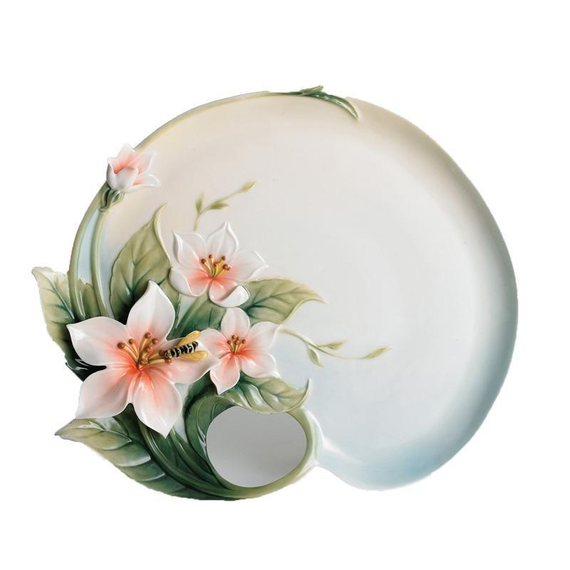 Franz Collection Bee & Apple Plate FZ00639