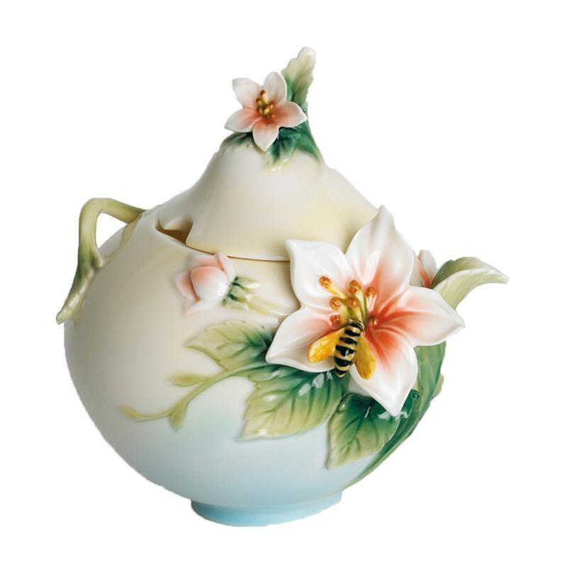 Franz Collection Bee & Apple Sugar Jar FZ00673