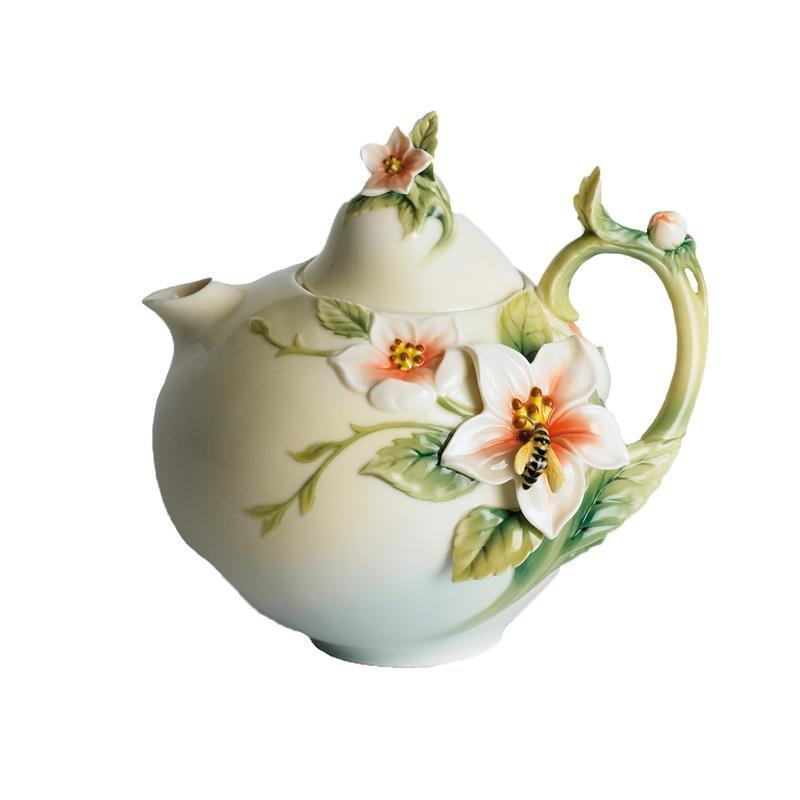 Franz Collection Bee & Apple Teapot FZ00299