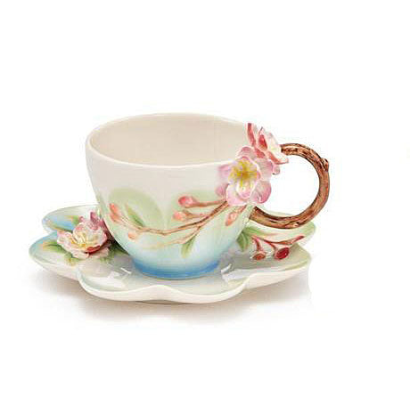 Franz Collection Begonia Cup & Saucer FZ03640