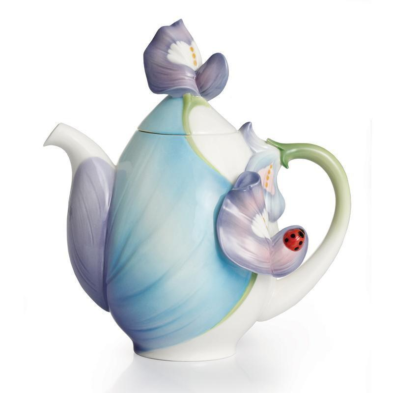 Franz Collection Blooming Bluebonnet Teapot FZ02290