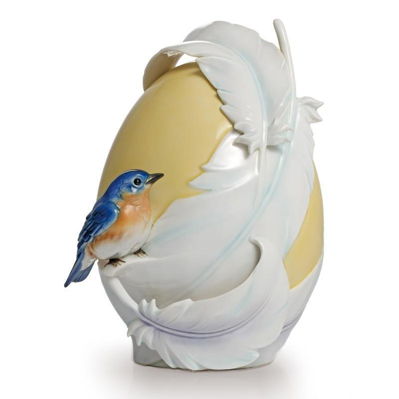 Franz Collection Blue Bird Vase Small  FZ02147