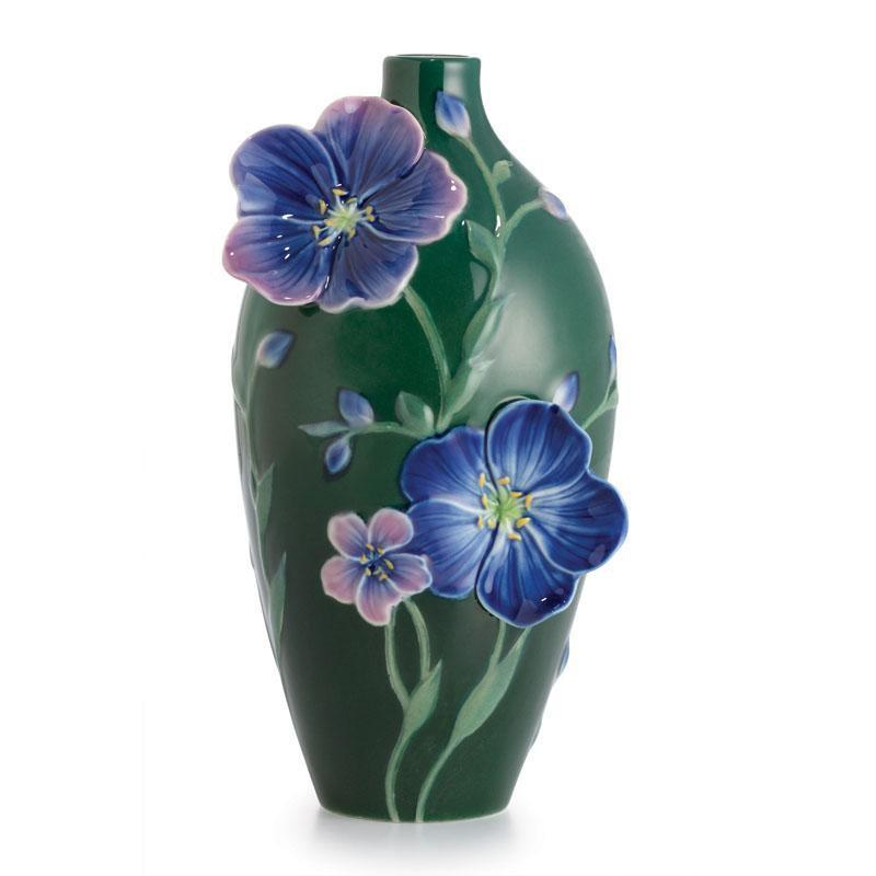 Franz Collection Blue Flax Flower Small Vase FZ02628