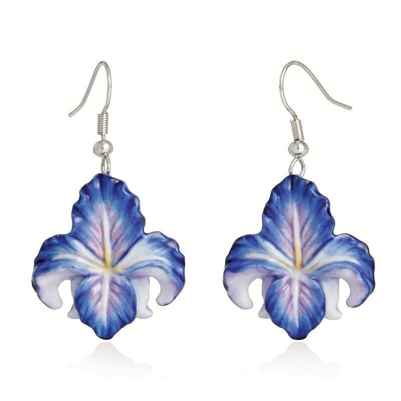 Franz Collection Blue Iris Earrings Pierced FJ00235