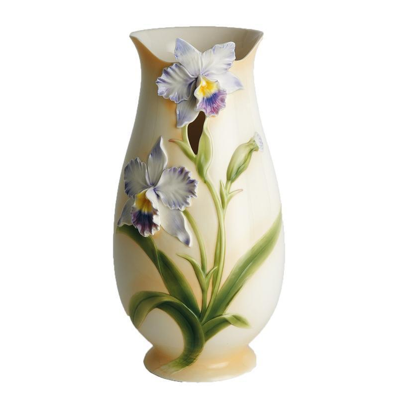 Franz Collection Blue Orchid Vase FZ00284