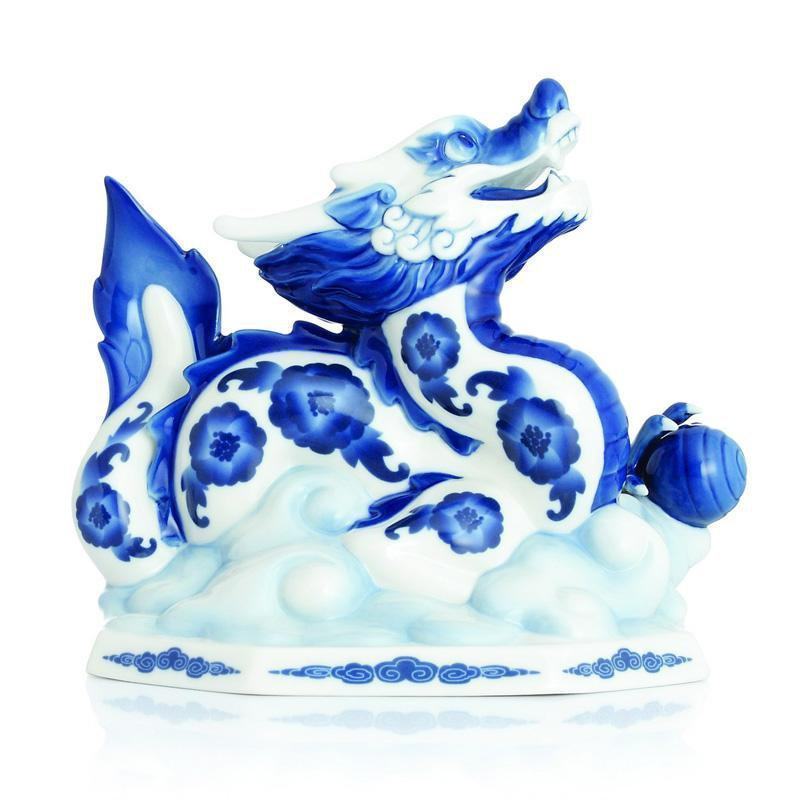 Franz Collection Blue & White Dragon Figurine FZ02823