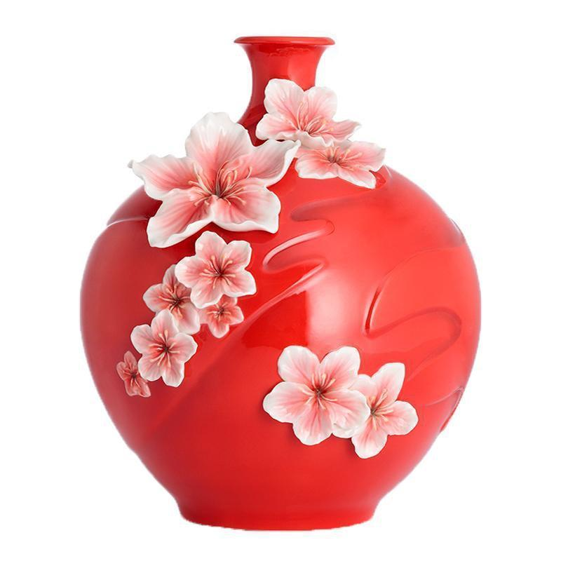 Franz Collection Blushing Peach Flower Medium Vase FZ02757