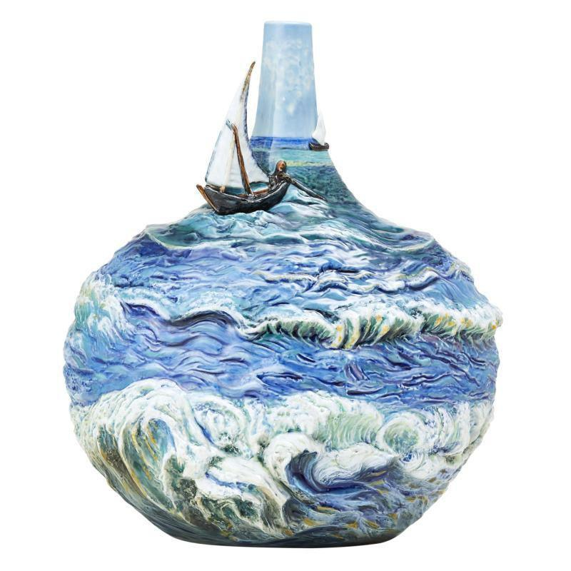 Franz Collection Boundless Ocean Vase FZ03690