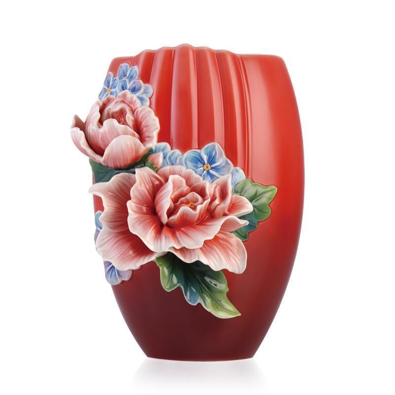 Franz Collection Brilliant Treasure Hibiscus Vase FZ03355
