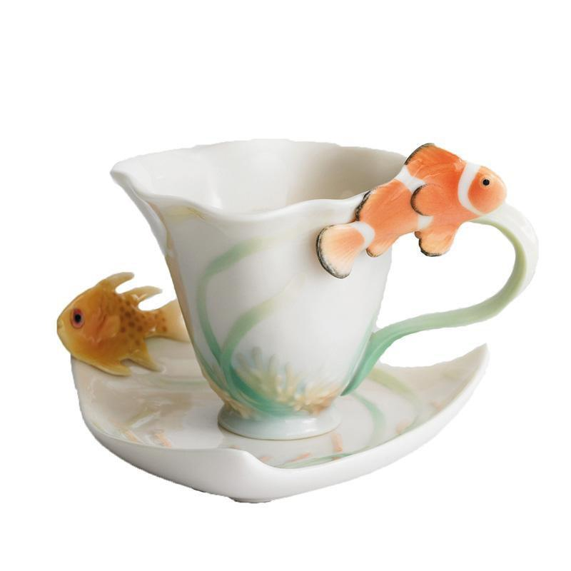 Franz Collection By The Sea Teacup & Saucer FZ01137