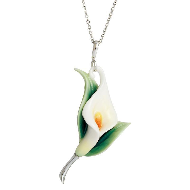 Franz Collection Calla Lily Flower Necklace FJ00223