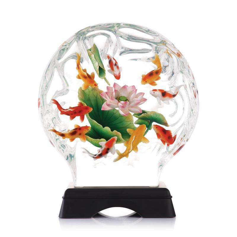 Franz Collection Carp Lucite Figurine & Base FL00141