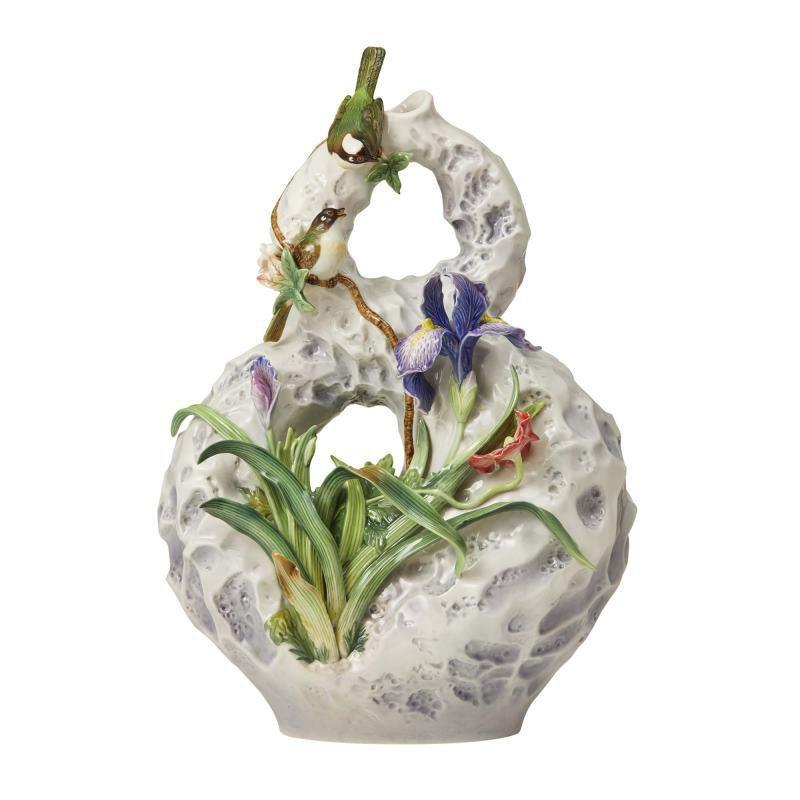 Franz Collection Chinese Bulbul Iris Vase FZ03681