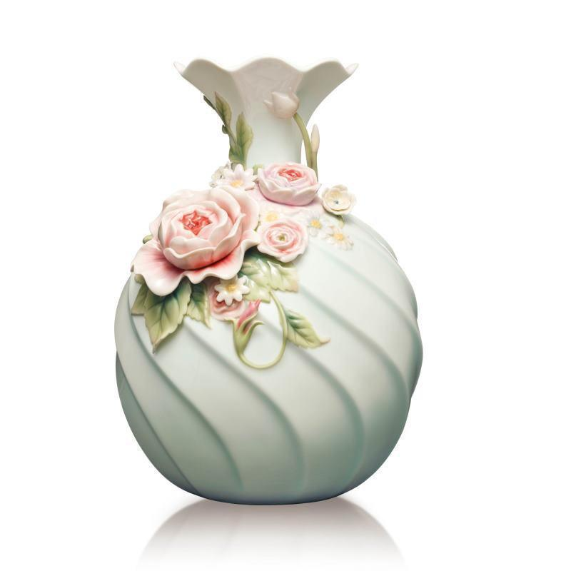 Franz Collection Chinese Rose Daisy Vase FZ03633