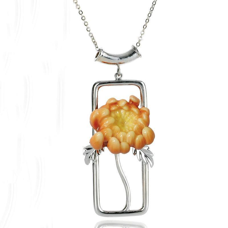 Franz Collection Chrysanthemum Necklace FJ00094