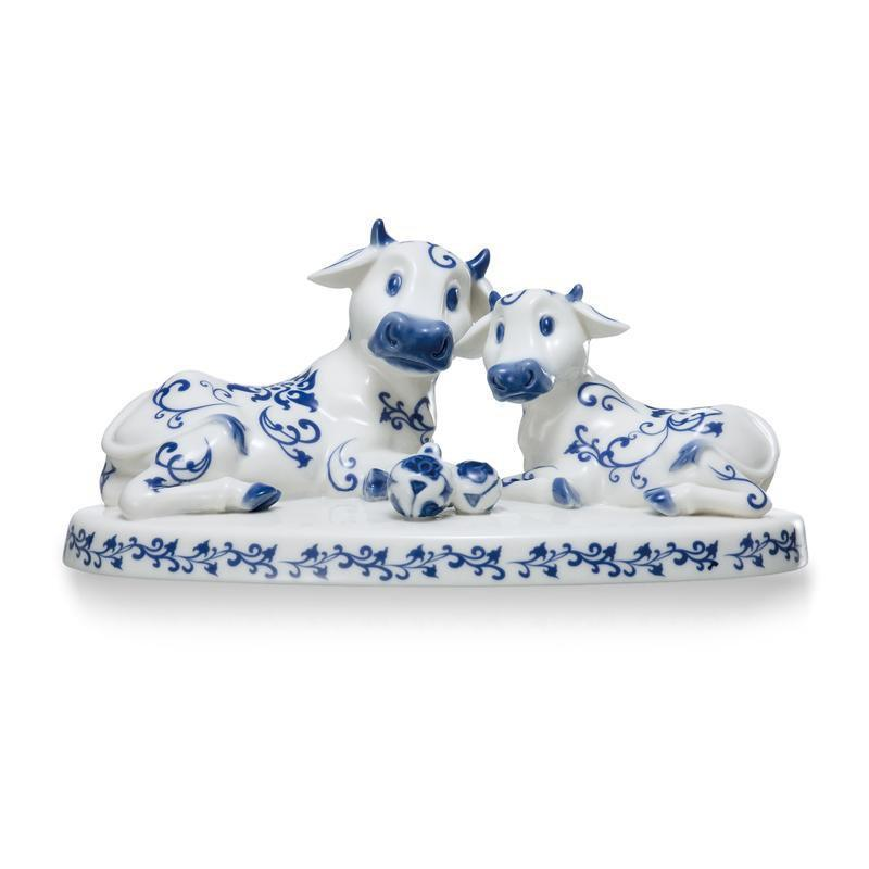 Franz Collection Collection Cheerful Life Cow Figurine FZ02030