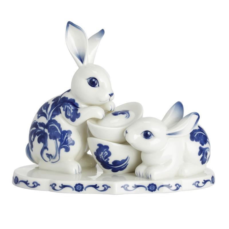 Franz Collection Collection Rabbit's Spring Welcome Rabbit Figurine FZ02469