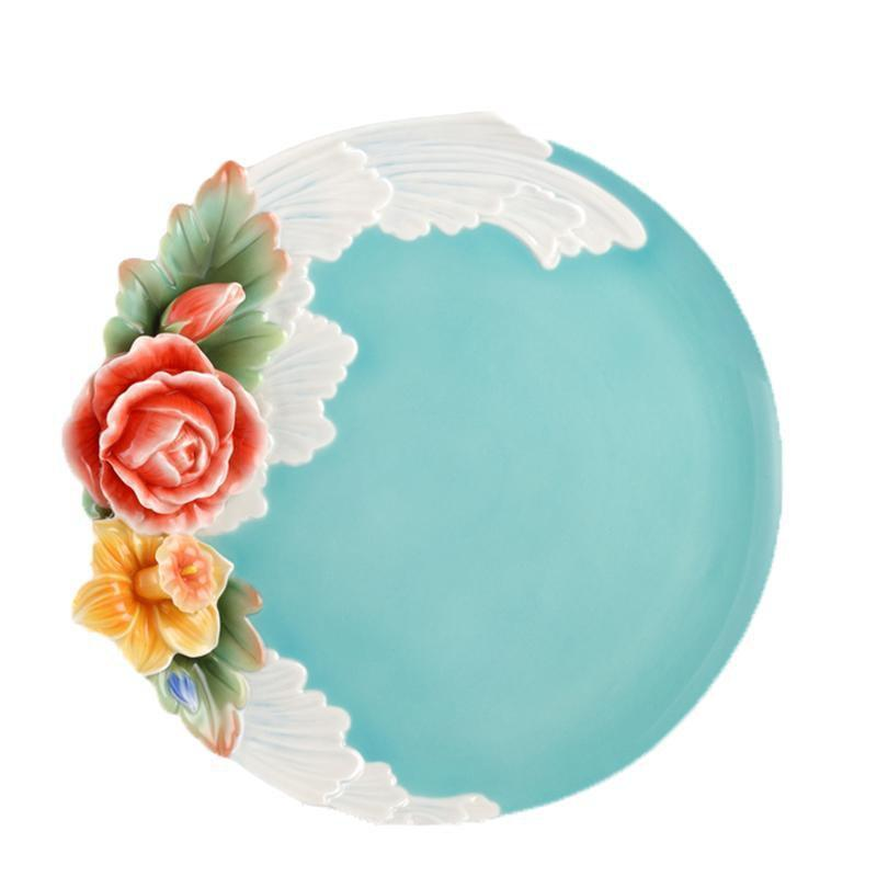 Franz Collection Collection Versailles Garden Rose Dessert Plate FZ02612
