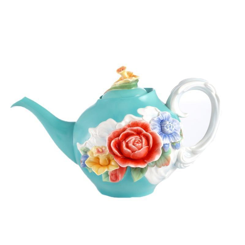 Franz Collection Collection Versailles Garden Rose Teapot FZ02611