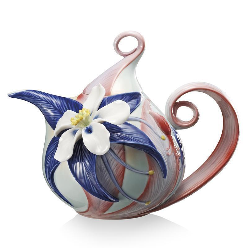 Franz Collection Columbine Wildflower Teapot FZ02085