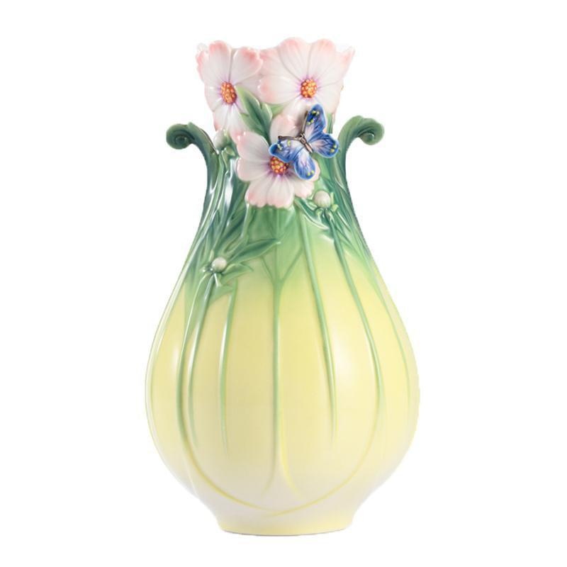 Franz Collection Cosmos of Color & Butterfly Small Vase FZ03006