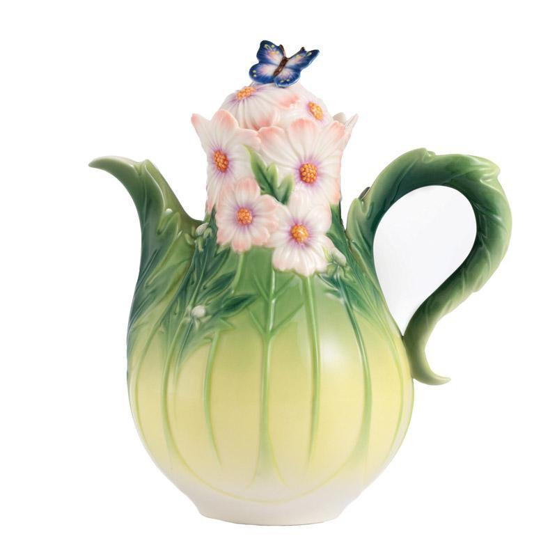 Franz Collection Cosmos of Color & Butterfly Teapot FZ03043