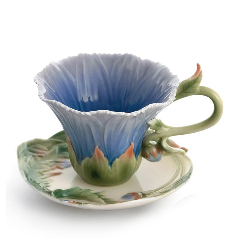Franz Collection Cozies Cherry Cup & Saucer FZ01507