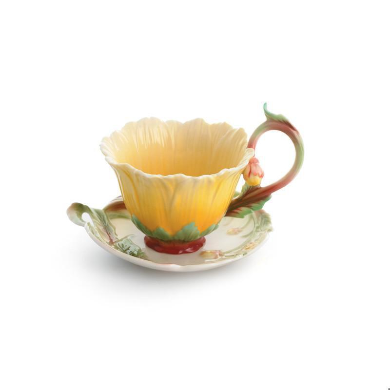 Franz Collection Cozies Dahlia Cup & Saucer FZ01505
