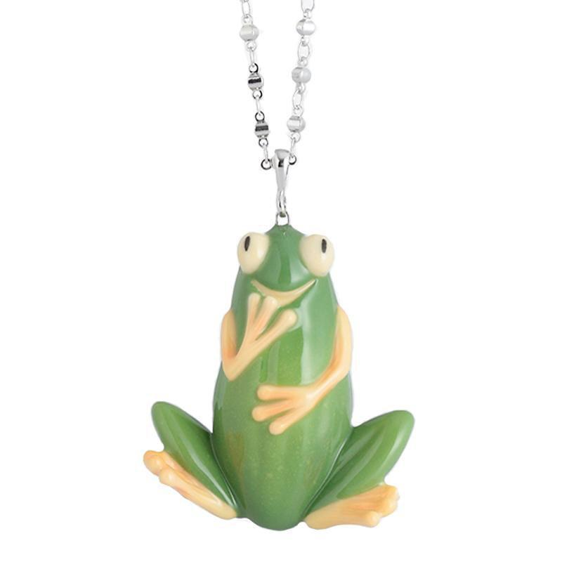 Franz Collection Cucumber Frog Necklace FJ00296
