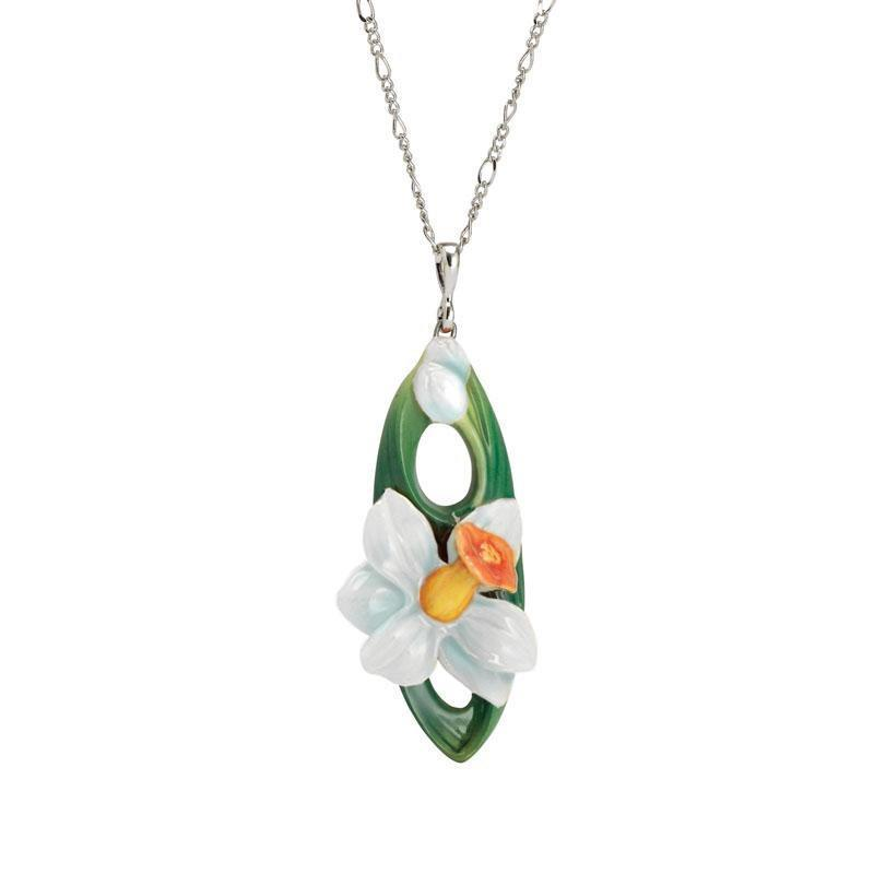 Franz Collection Daffodil Flower Necklace FJ00267