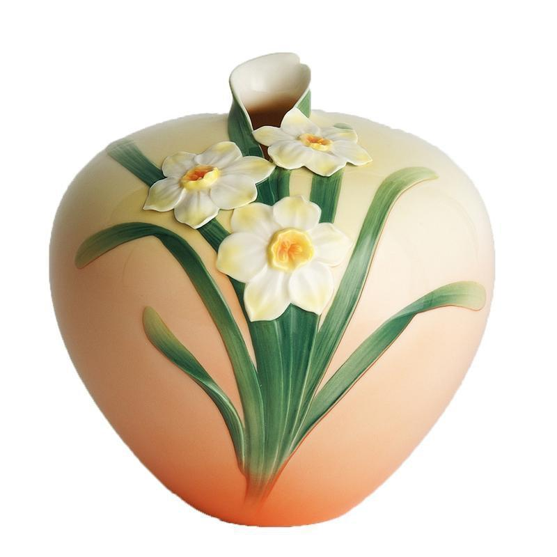 Franz Collection Daffodil Round Vase FZ00069