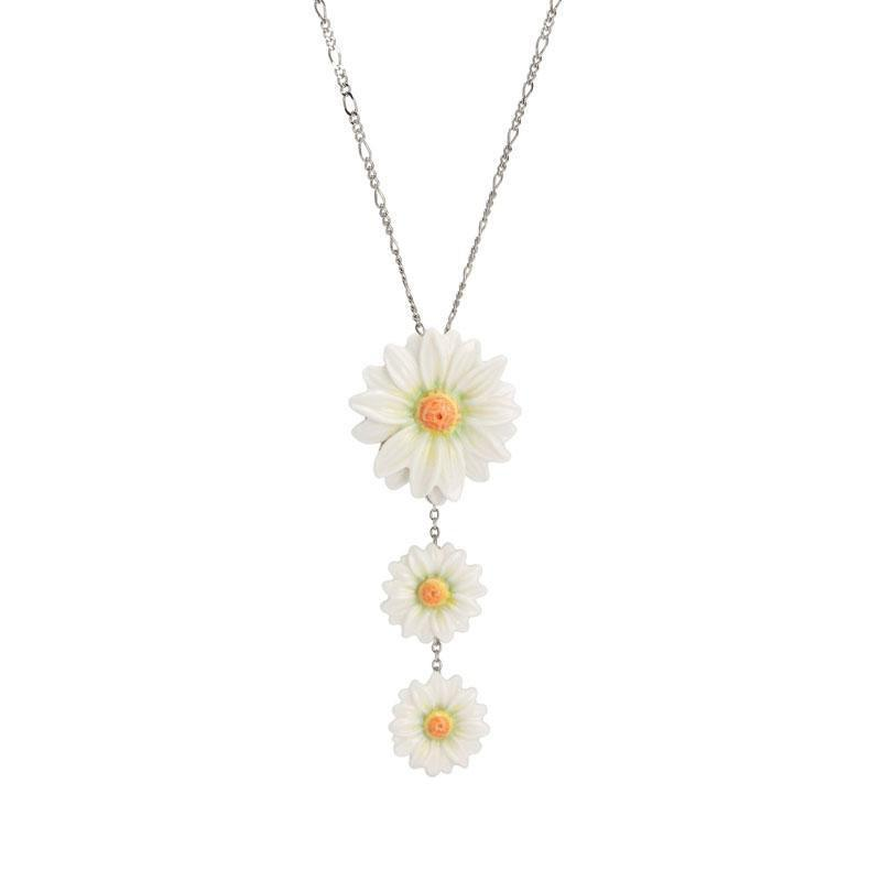 Franz Collection Daisy Flower Necklace FJ00260