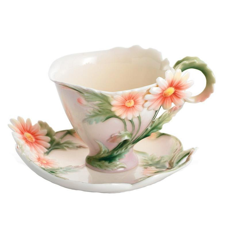 Franz Collection Daisy Small Cup & Saucer FZ01157