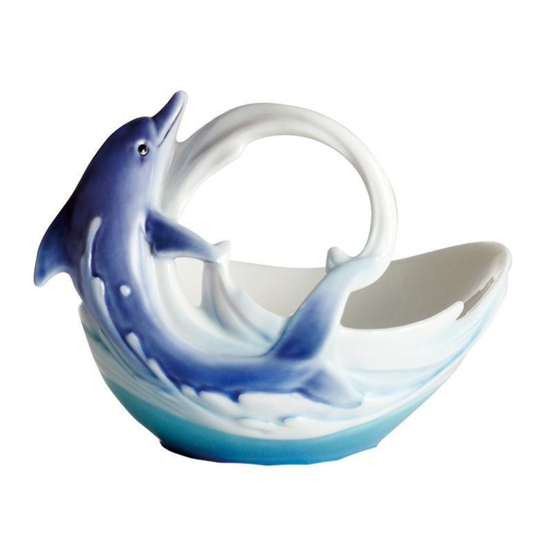 Franz Collection Dolphin Splash Candleholder FZ02261