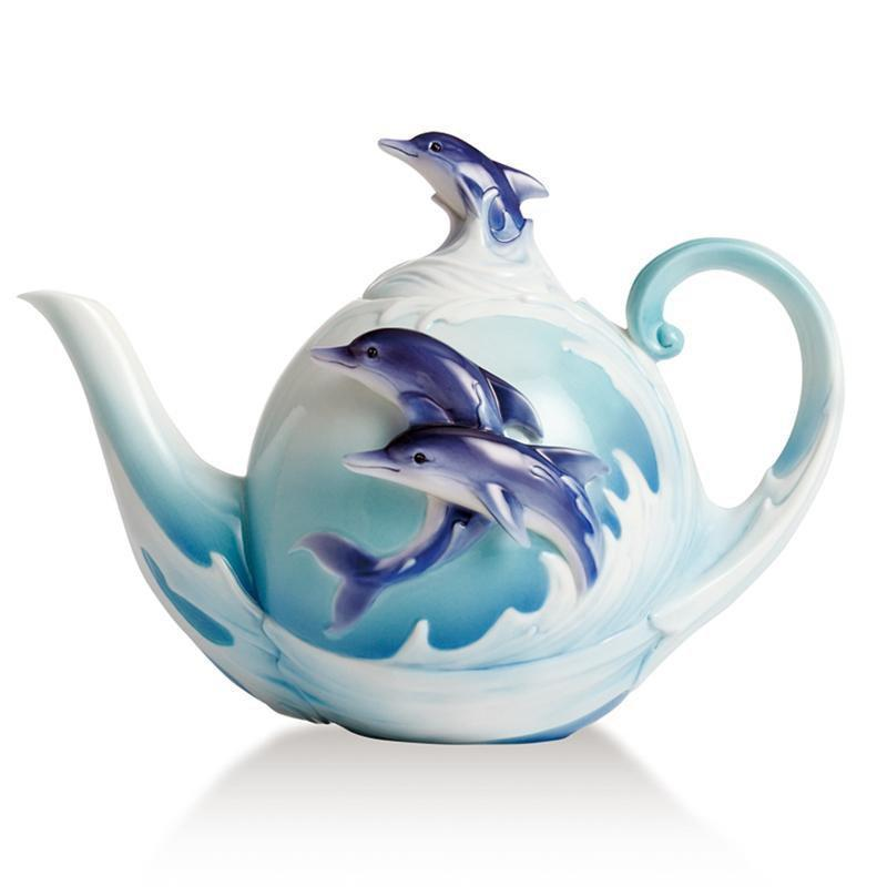 Franz Collection Dolphin Splash Teapot FZ02257