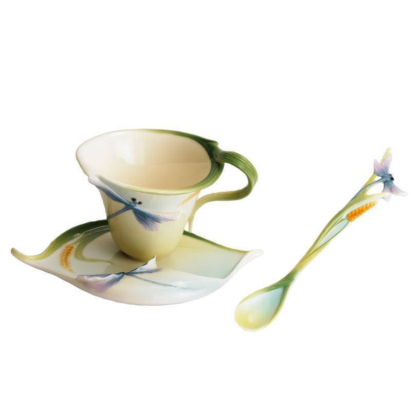 Franz Collection Dragonfly Cup Saucer & Spoon FZ00028