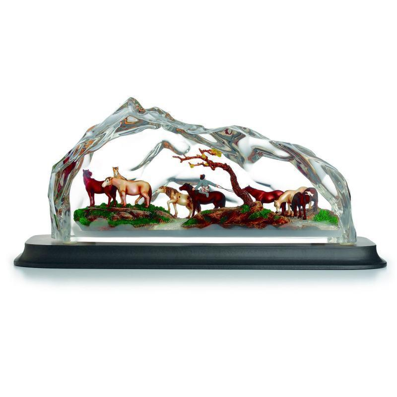 Franz Collection Eight Fine Horses Lucite Figurine FL00107