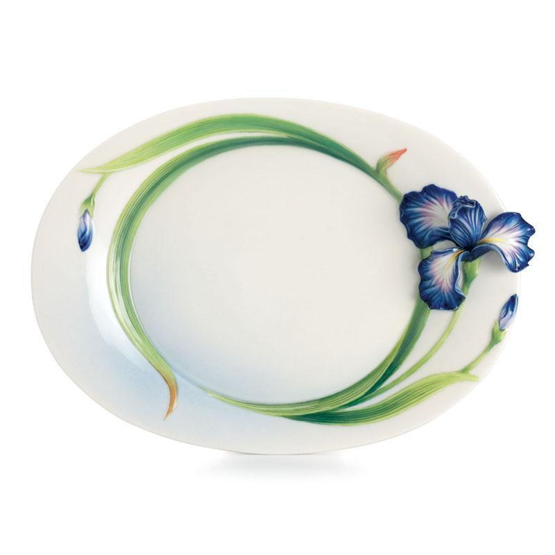 Franz Collection Eloquent Iris Dessert Plate FZ02494