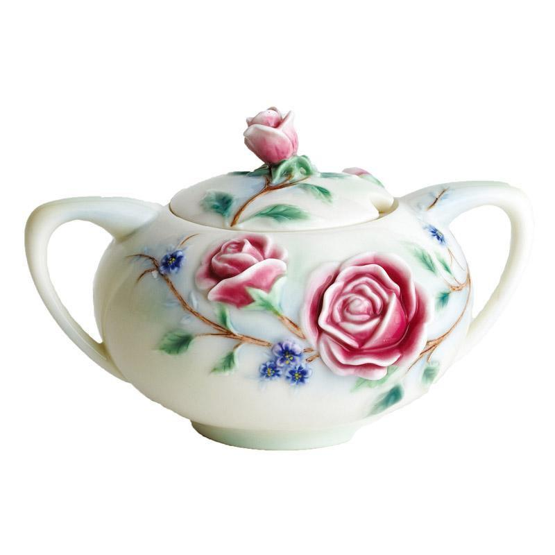 Franz Collection English Rose Sugar Jar FZ00695