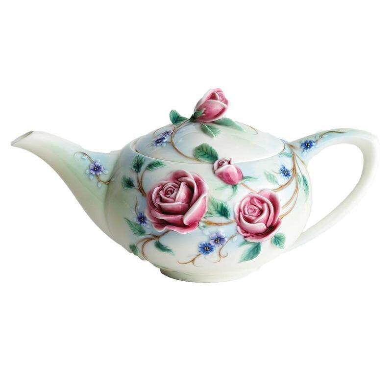 Franz Collection English Rose Teapot FZ00697