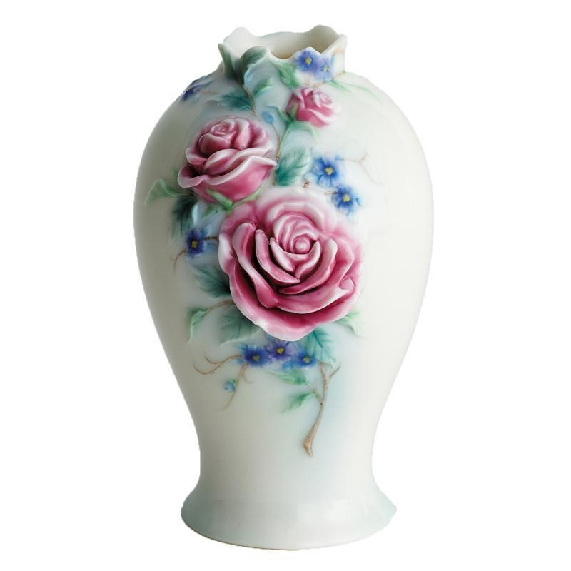 Franz Collection English Rose Vase FZ00692