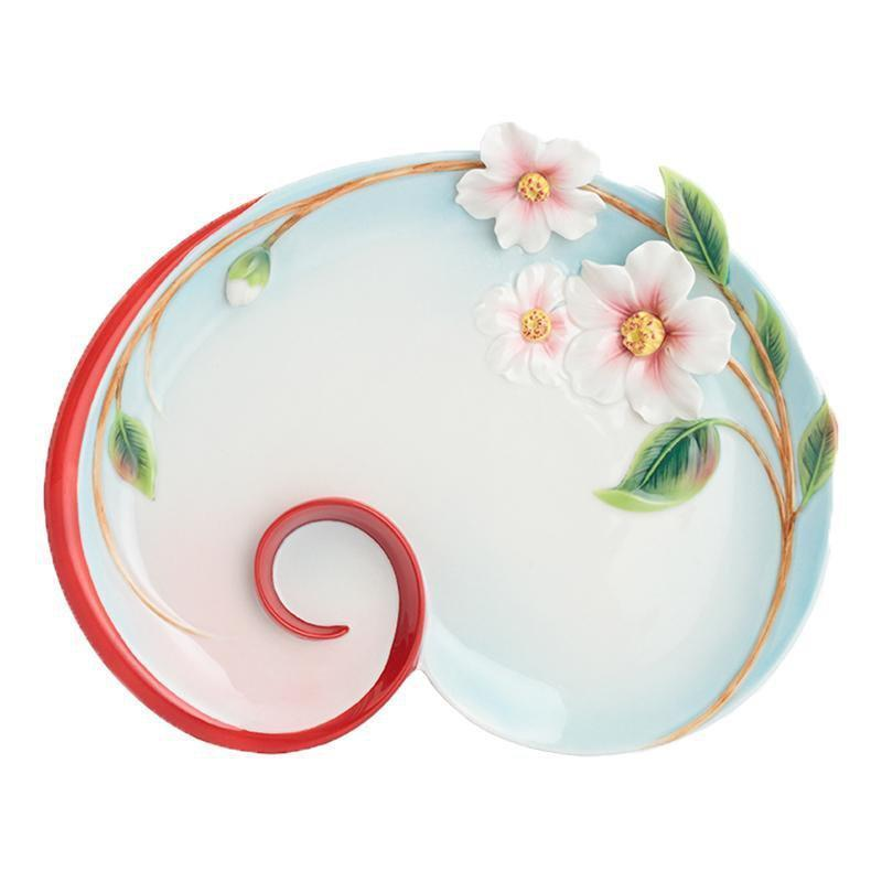 Franz Collection Everlasting Love Camellia Dessert Plate FZ02882