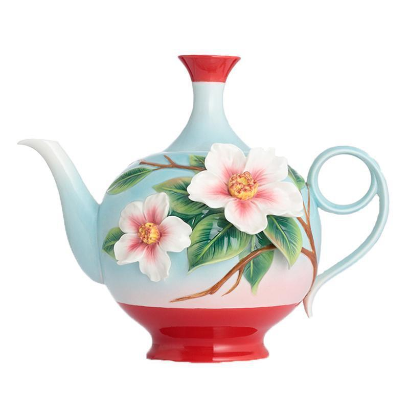 Franz Collection Everlasting Love Camellia Teapot FZ02870