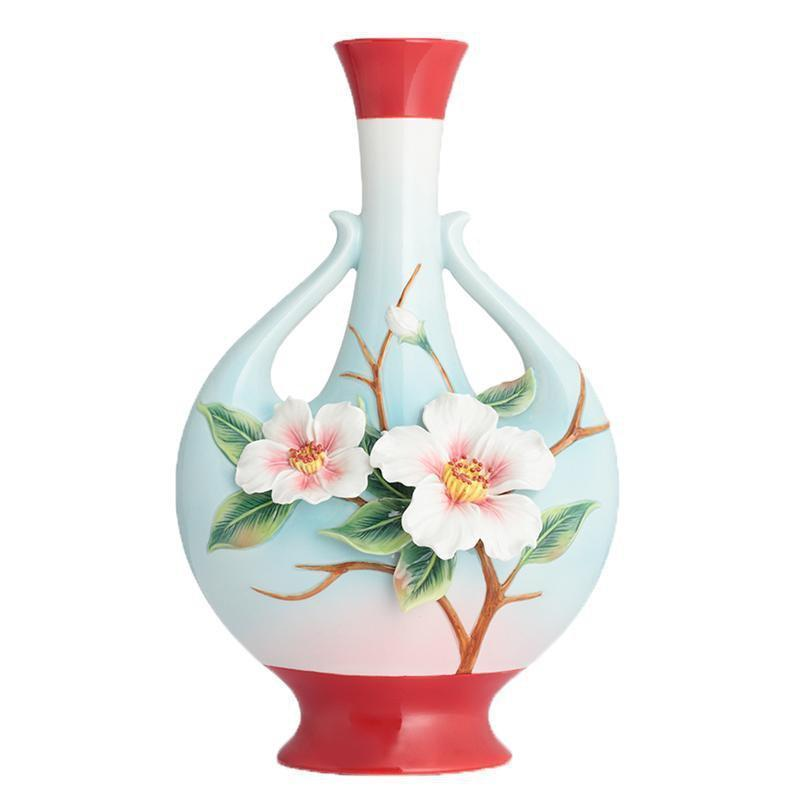 Franz Collection Everlasting Love Camellia Vase FZ02884