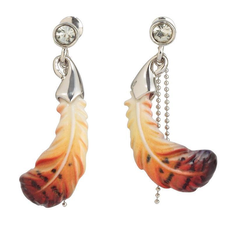 Franz Collection Feather Earrings FJ00280