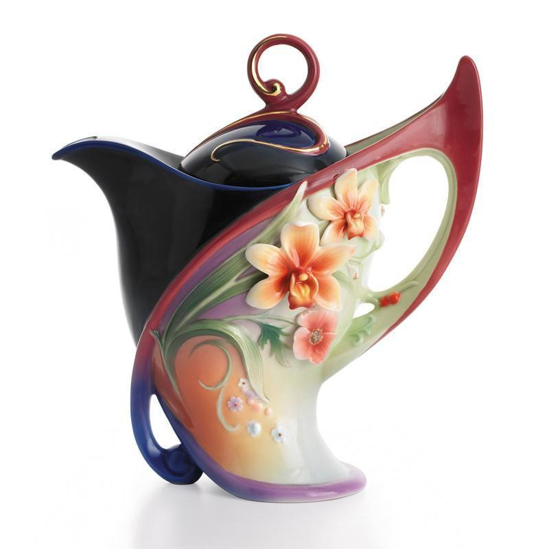 Franz Collection Flora & Flutter Teapot FZ01482